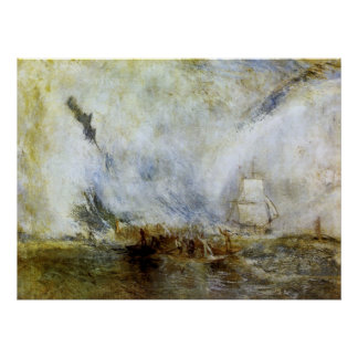 Whalers by Joseph Mallord Turner Poster