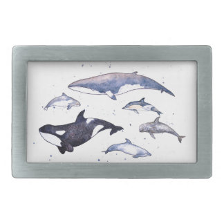 Whales and dolphins of Scotland Belt Buckle