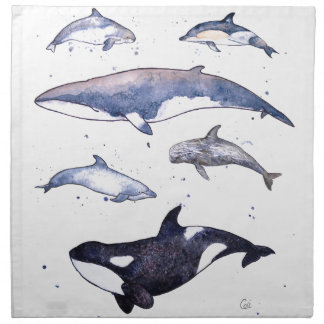 Whales and Dolphins of Scotland Napkin