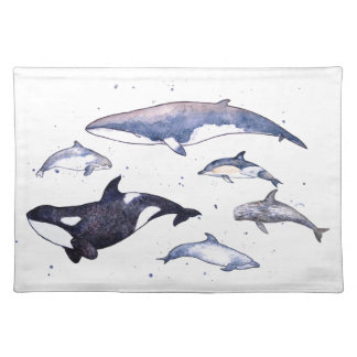 Whales and dolphins of Scotland Placemat
