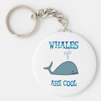 Whales are Cool Key Ring