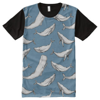 Whales are everywhere All-Over print T-Shirt