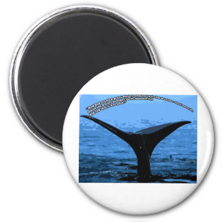 whales are good 6 cm round magnet