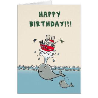 Whales Birthday Card