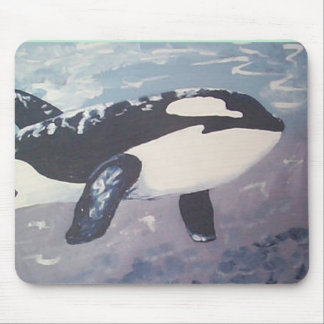 whales can fly mouse mat