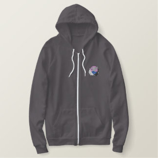 Whales Embroidered Hoodie