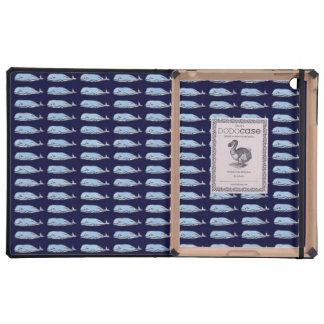 Whales in blue color cases for iPad