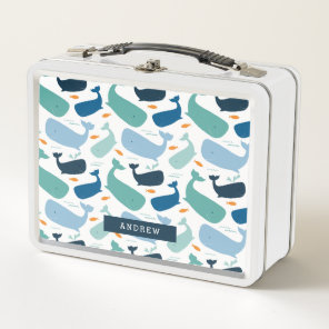 Whales Metal Lunch Box