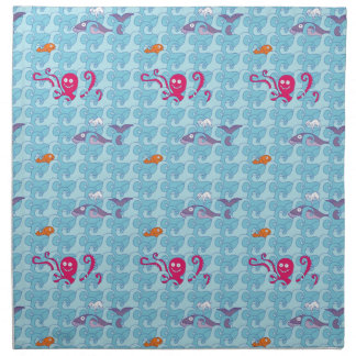 Whales, Octopi and Fish Napkin