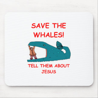 WHALES png Mousepad