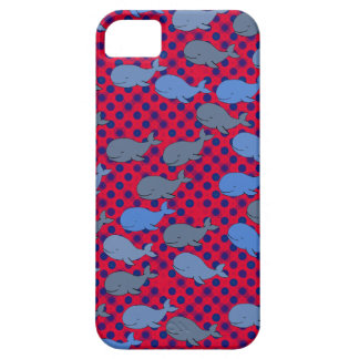 whales polka dots patterning case for the iPhone 5