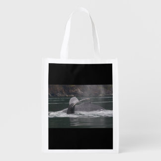 whales reusable grocery bag
