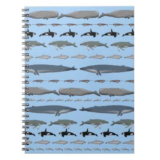Whales Spiral Notebook