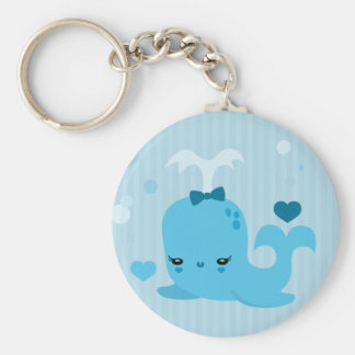 Whalin' Out Basic Round Button Key Ring