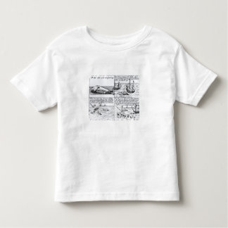 Whaling at Spitzbergen in 1611 (engraving) (b/w ph T-shirt