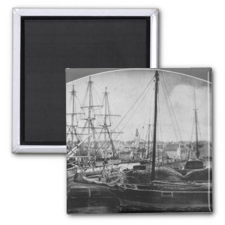 Whaling Port, New Bedford Square Magnet