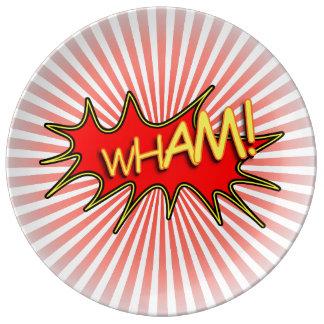 Wham explosion. porcelain plates