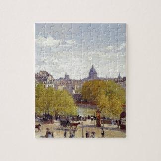 Wharf of Louvre, Paris by Claude Monet Jigsaw Puzzle