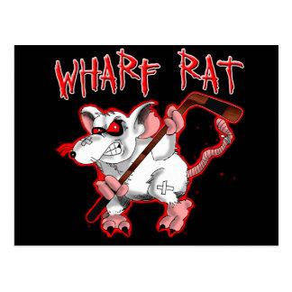 Wharf Rat Cartoon Mascot Postcard