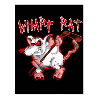 Wharf Rat Cartoon Mascot Postcard
