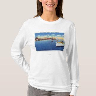 Wharf Scene Showing the Skipper Ship T-Shirt