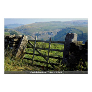 Wharfe Dale gateway, Yorkshire, England Poster