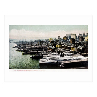 Wharves from the Brooklyn Bridge, New York City Postcard