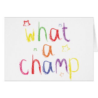 What a Champ Congratulations Card