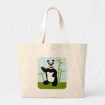 What A Cute Panda Bear Large Tote Bag