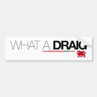 What a Draig... Bumper Sticker