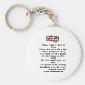 What a Friend we Have in Jesus Basic Round Button Key Ring
