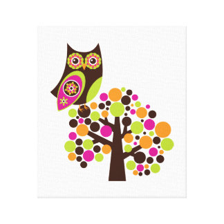 What a Hoot Wall Hanging Gallery Wrapped Canvas