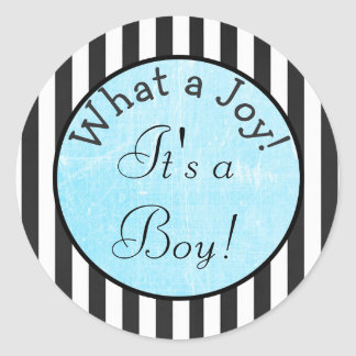 What a Joy! It's a boy,   Baby Shower Sticker