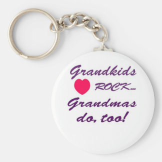 What a special bond between Grandma and Grandkids! Basic Round Button Key Ring