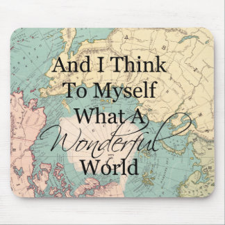 What A Wonderful World Mouse Map - Vintage Map Mouse Mat