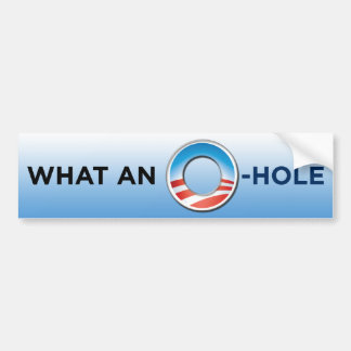 What An O-Hole Bumper Sticker