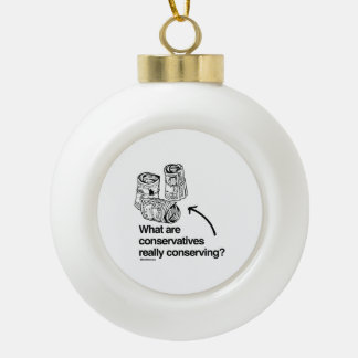 WHAT ARE CONSERVATIVES REALLY CONSERVING CERAMIC BALL DECORATION
