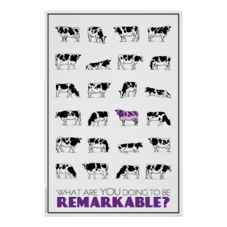 What are YOU doing to be REMARKABLE? Poster