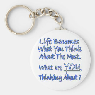 What Are YOU Thinking About Basic Round Button Key Ring