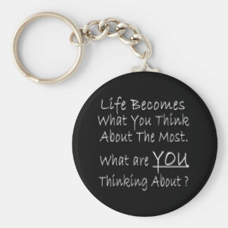 What Are YOU Thinking About ? Basic Round Button Key Ring