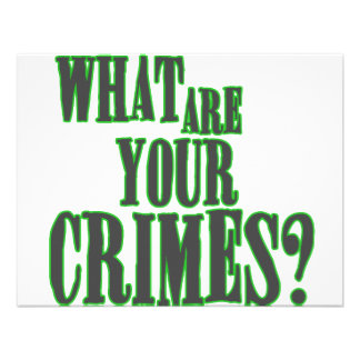 What Are Your Crimes? Custom Invitations