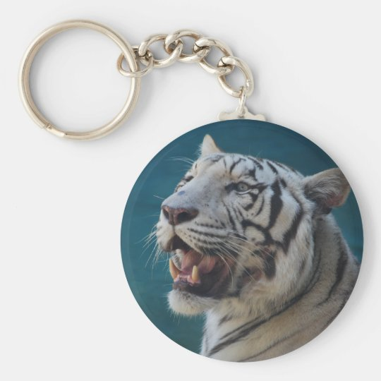 What big teeth you have! basic round button key ring