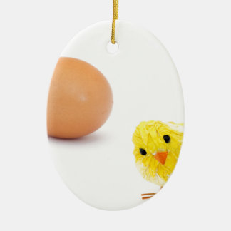 what came first the chicken or the egg? christmas ornament