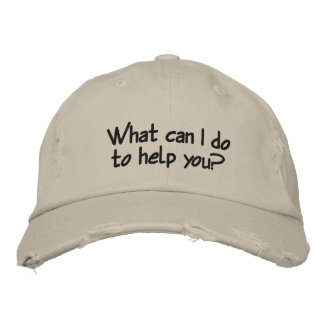 What can I do to help you? Distressed Baseball Cap