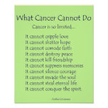 What Cancer Cannot Do Poem Poster Print