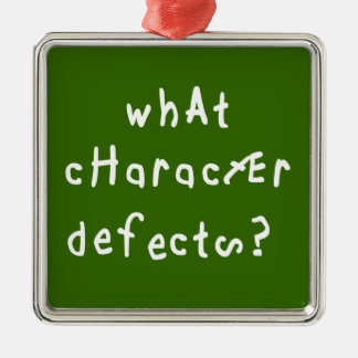 What Character Defects? Silver-Colored Square Decoration