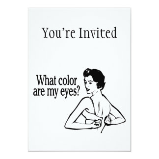 What Color Are My Eyes Retro 13 Cm X 18 Cm Invitation Card