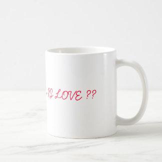WHAT COLOR IS LOVE ?? BASIC WHITE MUG