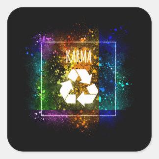 What Comes Around Goes Around - Karma Sticker
