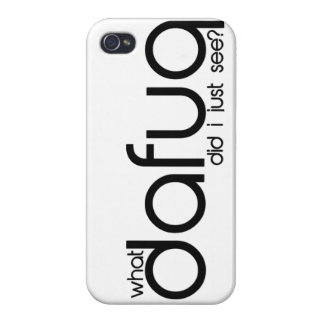 What Dafuq Did You Say? iPhone 5 Case. iPhone 4 Case